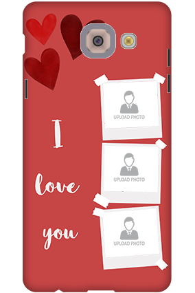 3D-Samsung Galaxy J7 Max Beautiful Hearts Customized Mobile Cover