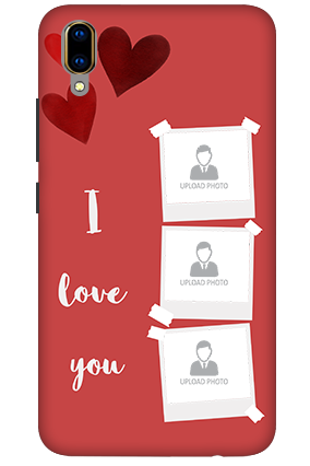 3D-Vivo V11 Pro Beautiful Hearts Customized Mobile Cover