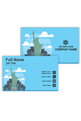 Statue of Liberty Personalized Travel and Tourism Visiting Card