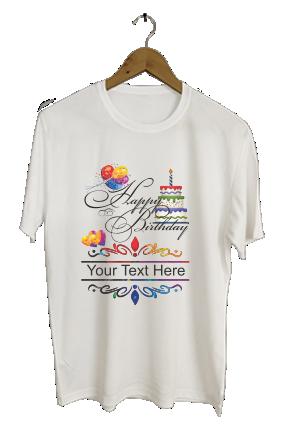 Happy Birthday Dri-Fit White T-shirt