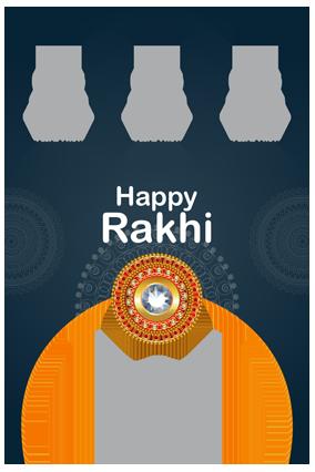 Love You Sister Personalized Raksha Bandhan Portrait Collage