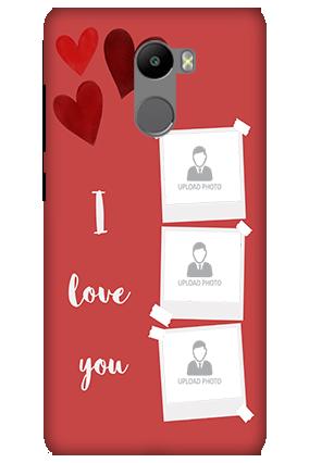 3D-Xiaomi Redmi 4 Prime Beautiful Hearts Customized Mobile Cover