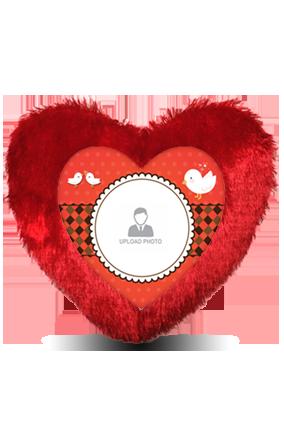 Birthday Note Heart Fur Cushion