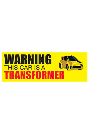 Transformer bumper sticker transformer bumper sticker