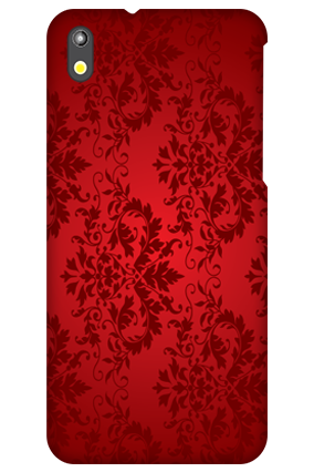 HTC Desire 816 Deep Red Floral Mobile Cover