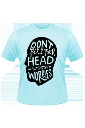 Don't Fill In Head Sky Blue T-shirt
