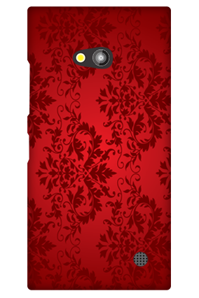 Nokia Lumia 730 Deep Red Floral Mobile Cover