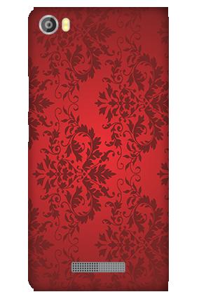 Customized Silicon - Lava Iris X8 Red Color Mobile Cover