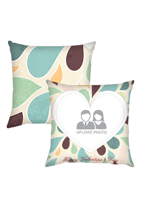 Floral Valentines Day Cushion Cover