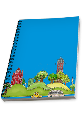 Animated City Notebook