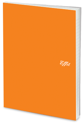 Personalized Effit Clear Orange Notebook