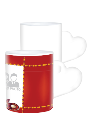 Brother & Sister Personalized Heart Handle White Coffee Mug