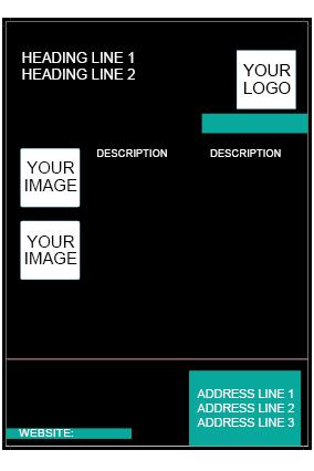 Black Design Flyer