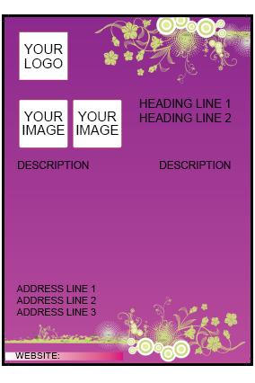 Purple Three Img Flyer