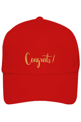 Amazing Congrats Cotton Red Cap