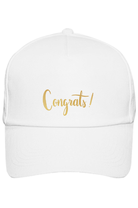 Amazing Congrats Cotton White Cap