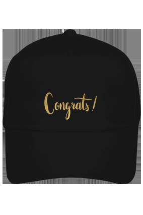 Amazing Congrats Cotton Black Cap