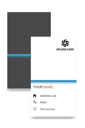 Black And White Vertical Business Card