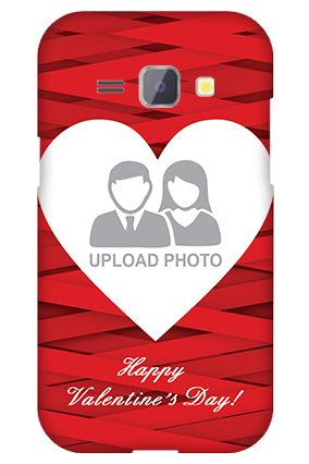 Silicon - Samsung Galaxy J1 Big Heart Valentine's Day Mobile Cover