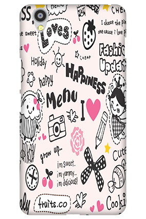 Custom Oneplus X Happiness Menu Mobile Cover