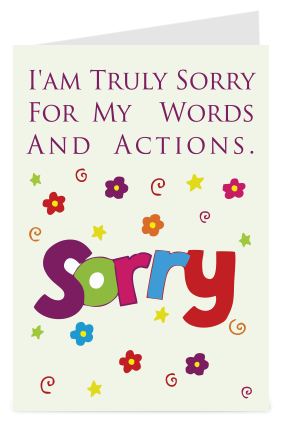 Buy personalized sorry greeting cards online in india with custom 14 products found m4hsunfo