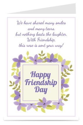 Blessing Friendship Day Card