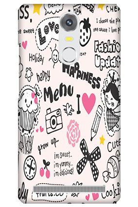 Lenovo K5 Note Happiness Menu Mobile Cover