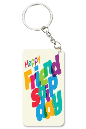 Awesome White Small Rectangle Key Chain