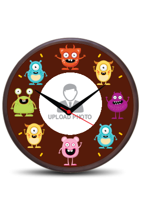 Smiley Wooden Wall Clock