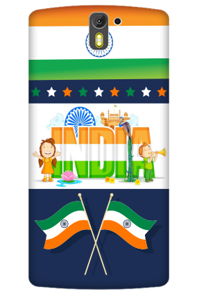 3D- India Oneplus One  Mobile Cover