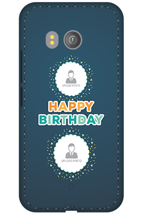 3D - HTC U11 Birthday Wishes Mobile Cover