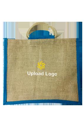Upload Logo Horizontal Jute Bottle Bag 06