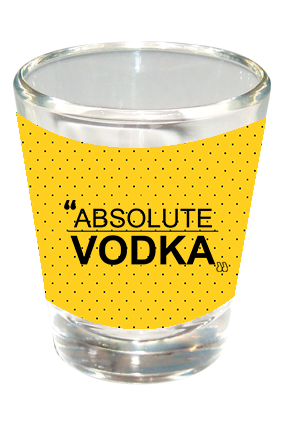Absolute Vodka Funky Shot Glass