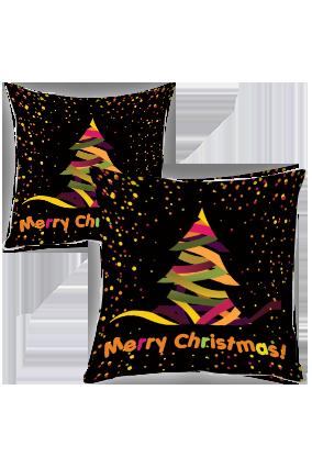 Designer Tree Merry Christmas Cushion Cover