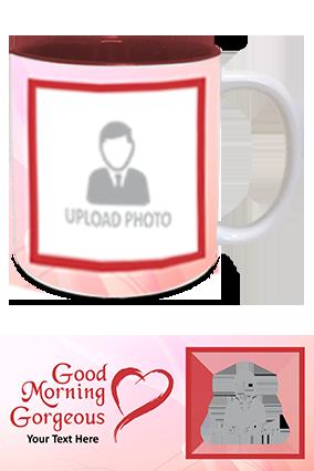 Good Morning Gorgeous Printed Inside Maroon Mug