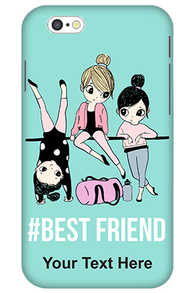 3D-iPhone 6 Best Friends Personalized Plastic Mobile Cover
