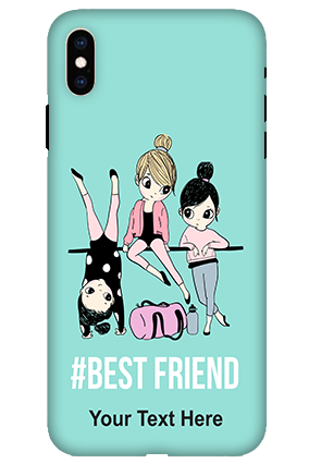 3D-Apple iPhone XS Max Best Friends Personalized Mobile Cover