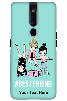 3D-OPPO F11 Pro Best Friends Personalized Mobile Cover
