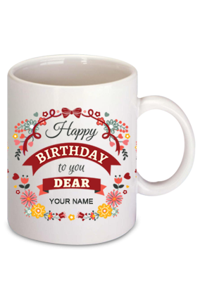 Birthday Wishes Dear Bone China Mug