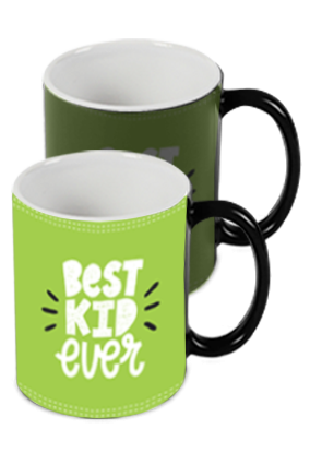 Best Kid Ever Photo Printed Kids Designer Black Magic Mug