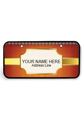 Soothing Wooden Nameplate