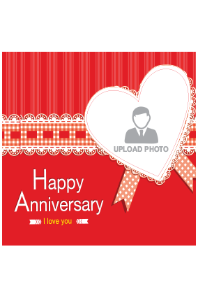 Happy Anniversary Square Canvas Print
