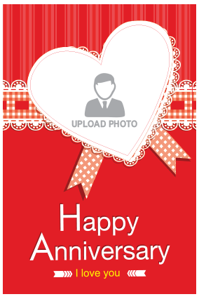 Happy Anniversary Potrait Canvas Print