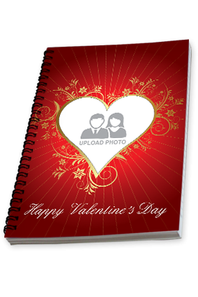 Customized Artistic Heart Valentine's Day Notebook