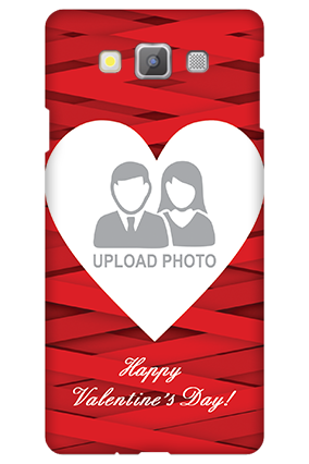 Printed Samsung galaxy A7 Big Heart Valentine's Day Mobile Cover