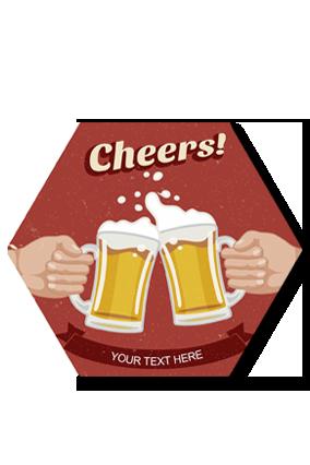 Cheers Hexa Coaster Printing