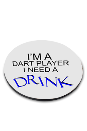 Dart Player Round Customized Coaster Printing