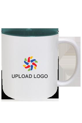 Upload Company Logo Inside Green Mug