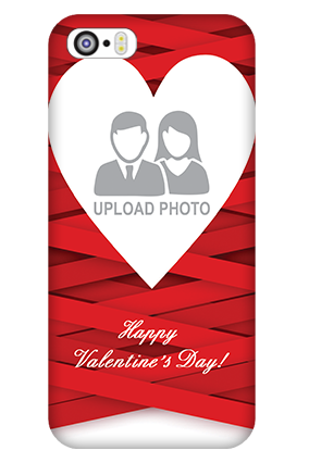 Customized iPhone 5 Big Heart Valentine's Day Mobile Cover