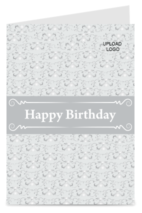 Grey Color Birthday Card